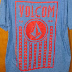 Volcom Graphic Blue Shirt L